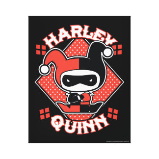 Chibi Harley Quinn Splits Canvas Print