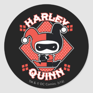 Chibi Harley Quinn Splits Classic Round Sticker
