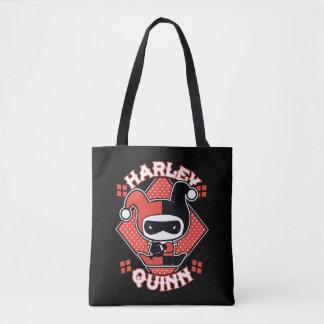 Chibi Harley Quinn Splits Tote Bag