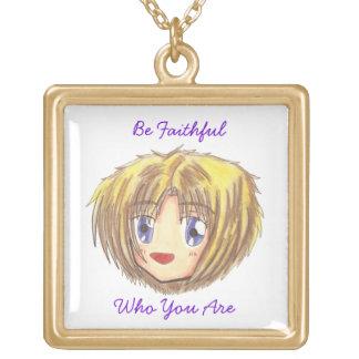 Chibi Head- Ayame Be Faithful' Words Necklaces