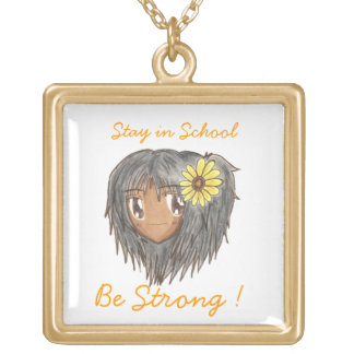 Chibi Head- Hinata 'Be Strong' Words Necklace