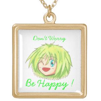 Chibi Head- Izumi 'Be Happy' Words Necklace