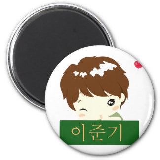 Chibi Hero Block 6 Cm Round Magnet