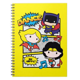 Chibi Heroes Dancing Notebooks