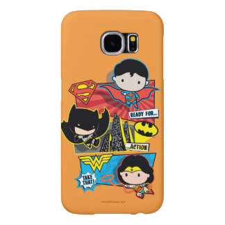 Chibi Heroes Ready For Action! Samsung Galaxy S6 Cases