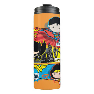 Chibi Heroes Ready For Action! Thermal Tumbler