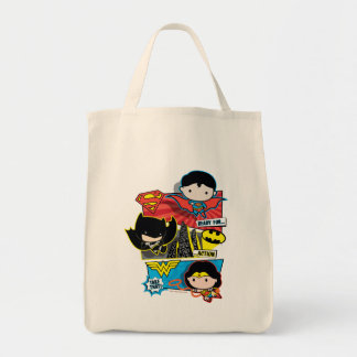 Chibi Heroes Ready For Action! Tote Bag