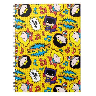 Chibi Heroine Dance Pattern Spiral Notebook