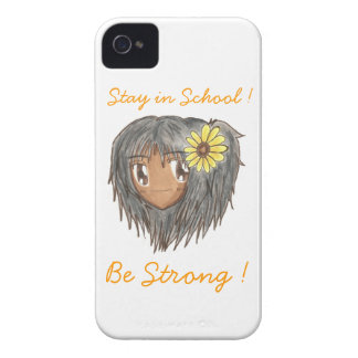 Chibi Hinata 'Be strong' iPhone 4 Case