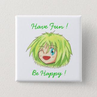 Chibi Izumi 'Be Happy' Button
