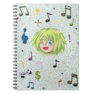 Chibi Izumi w/ collage Background Notebooks