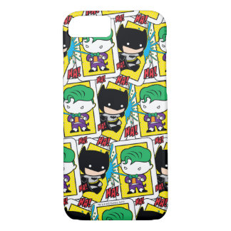 Chibi Joker and Batman Playing Card Pattern iPhone 8/7 Case