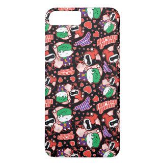 Chibi Joker and Harley Heart Pattern iPhone 8 Plus/7 Plus Case