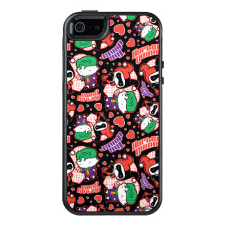 Chibi Joker and Harley Heart Pattern OtterBox iPhone 5/5s/SE Case