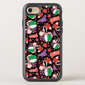 Chibi Joker and Harley Heart Pattern OtterBox Symmetry iPhone 8/7 Case