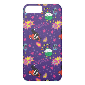 Chibi Joker and Harley Pattern iPhone 7 Plus Case