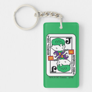 Chibi Joker Playing Card Double-Sided Rectangular Acrylic Key Ring