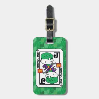 Chibi Joker Playing Card Luggage Tag