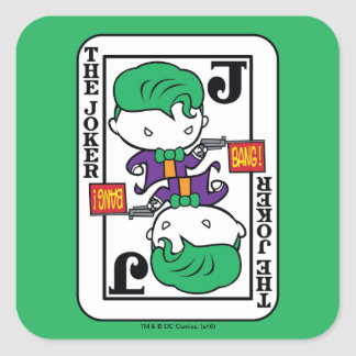 Chibi Joker Playing Card Square Sticker