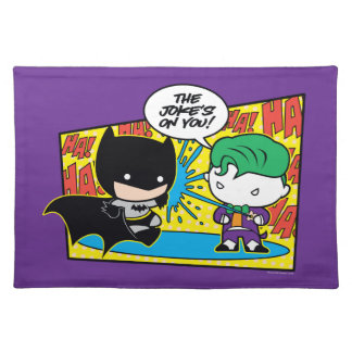 Chibi Joker Pranking Chibi Batman Place Mats