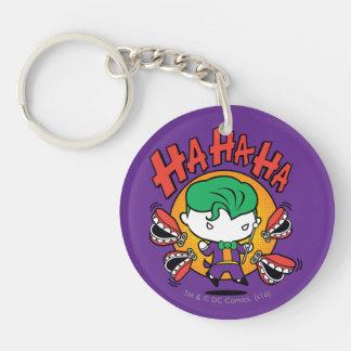 Chibi Joker With Toy Teeth Double-Sided Round Acrylic Key Ring