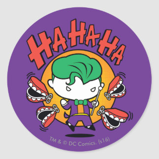 Chibi Joker With Toy Teeth Round Sticker