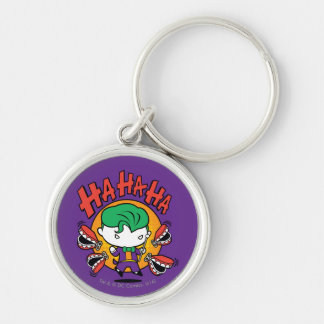 Chibi Joker With Toy Teeth Silver-Colored Round Key Ring