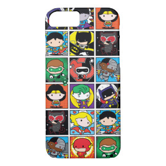 Chibi Justice League Character Pattern iPhone 8/7 Case
