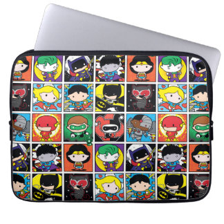 Chibi Justice League Character Pattern Laptop Sleeve