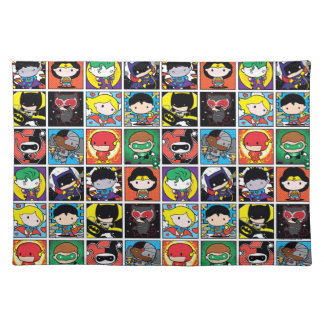 Chibi Justice League Character Pattern Placemat