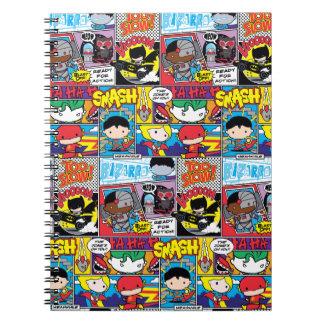 Chibi Justice League Comic Book Pattern