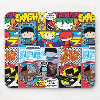 Chibi Justice League Comic Book Pattern Mouse Pad