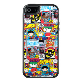 Chibi Justice League Comic Book Pattern OtterBox iPhone 5/5s/SE Case