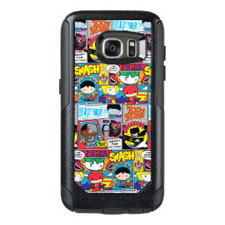 Chibi Justice League Comic Book Pattern OtterBox Samsung Galaxy S7 Case