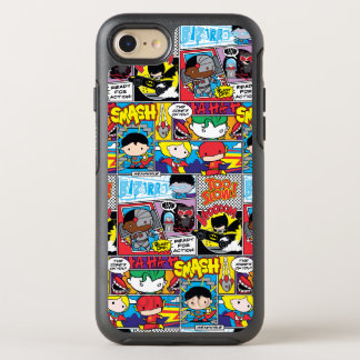 Chibi Justice League Comic Book Pattern OtterBox Symmetry iPhone 8/7 Case