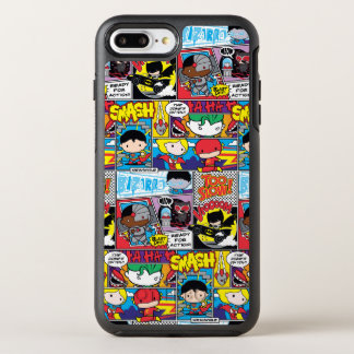 Chibi Justice League Comic Book Pattern OtterBox Symmetry iPhone 8 Plus/7 Plus Case