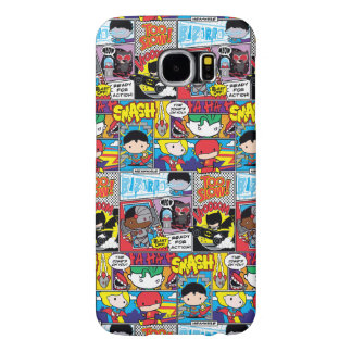 Chibi Justice League Comic Book Pattern Samsung Galaxy S6 Cases