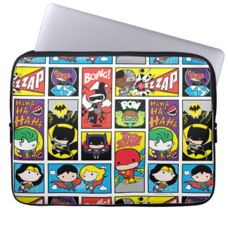 Chibi Justice League Compilation Pattern Laptop Sleeve