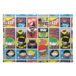 Chibi Justice League Compilation Pattern Placemat