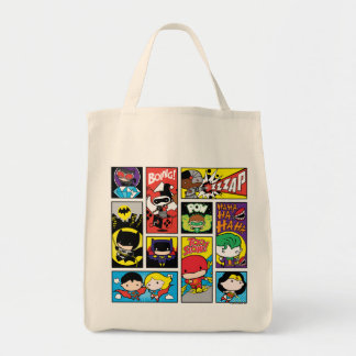 Chibi Justice League Compilation Pattern Tote Bag