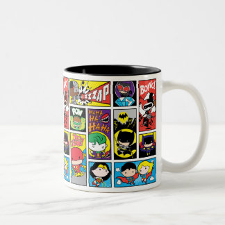 Chibi Justice League Compilation Pattern Two-Tone Coffee Mug