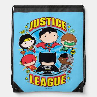 Chibi Justice League Group Drawstring Bag