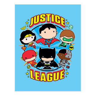 Chibi Justice League Group Postcard