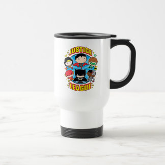 Chibi Justice League Group Travel Mug