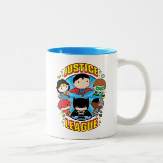 Chibi Justice League Group Two-Tone Coffee Mug