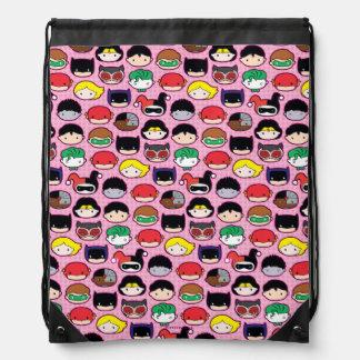 Chibi Justice League Head Pattern Drawstring Bag