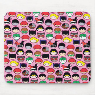 Chibi Justice League Head Pattern Mouse Pad