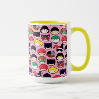 Chibi Justice League Head Pattern Mug