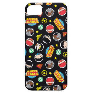 Chibi Justice League Heroes and Logos Pattern Case For The iPhone 5