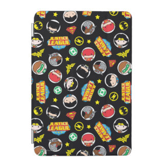 Chibi Justice League Heroes and Logos Pattern iPad Mini Cover